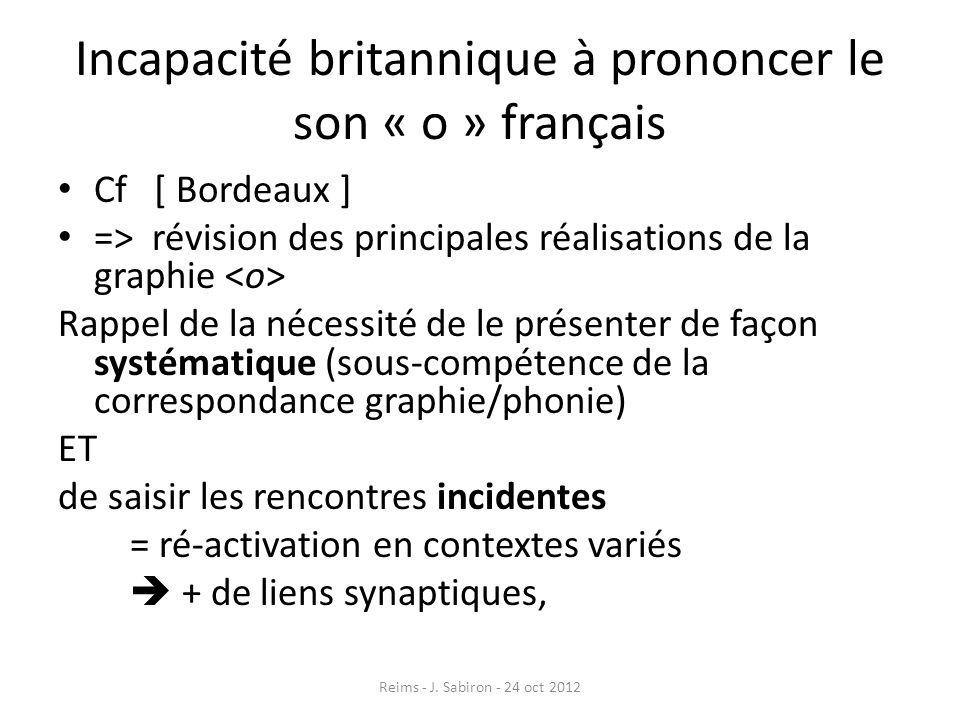 Incapacité britannique à prononcer le son « o » français