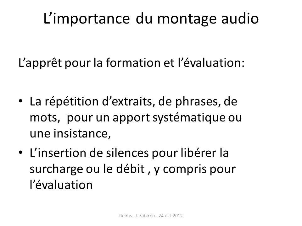 L'importance du montage audio
