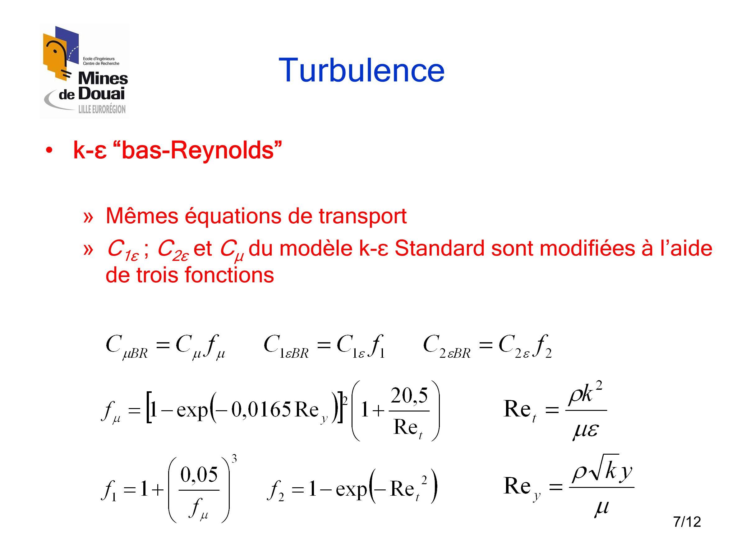 Résultats Température (K) Vecteurs vitesse (m/s) k-ε Standard k-ε RNG