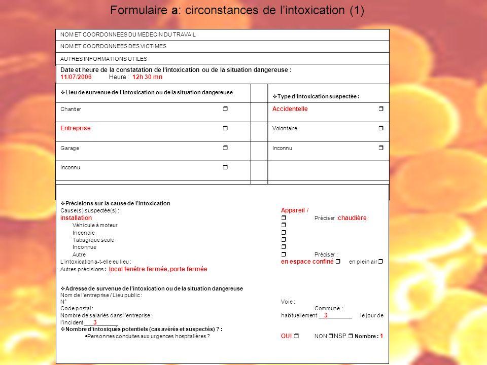Formulaire a: circonstances de l'intoxication (1)