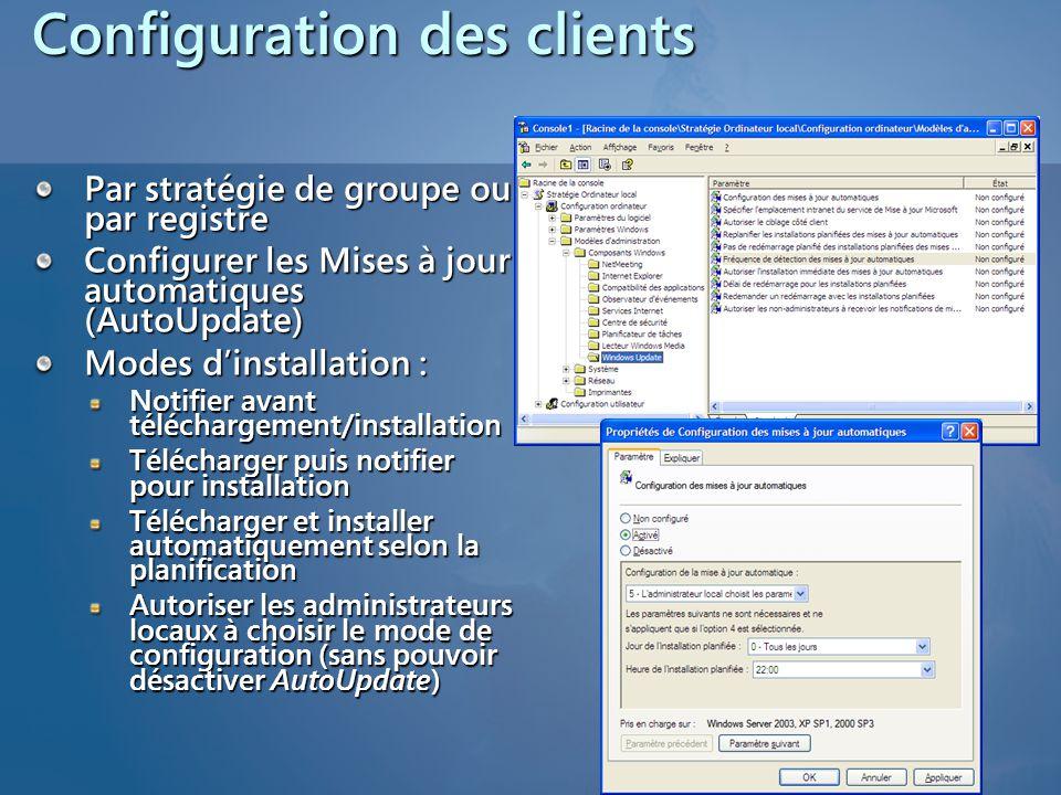 Configuration des clients
