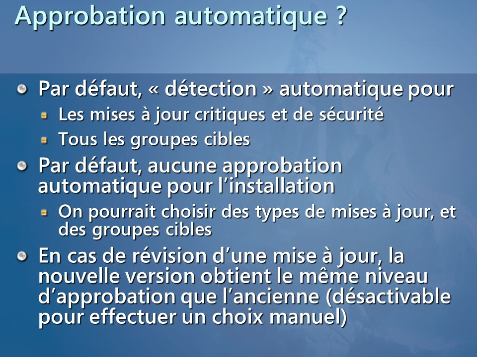 Approbation automatique