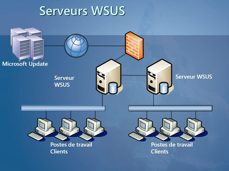Serveurs WSUS Microsoft Update Serveur WSUS Serveur WSUS