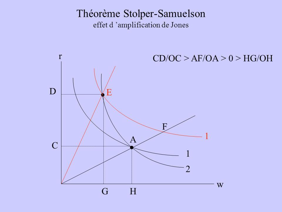 Théorème Stolper-Samuelson effet d 'amplification de Jones