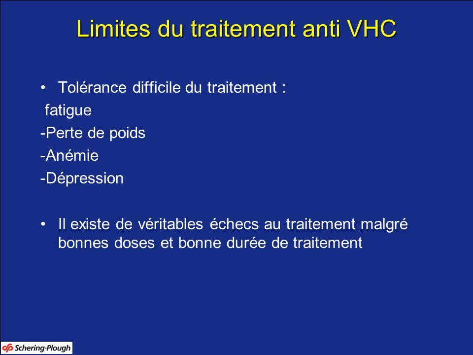 Limites du traitement anti VHC