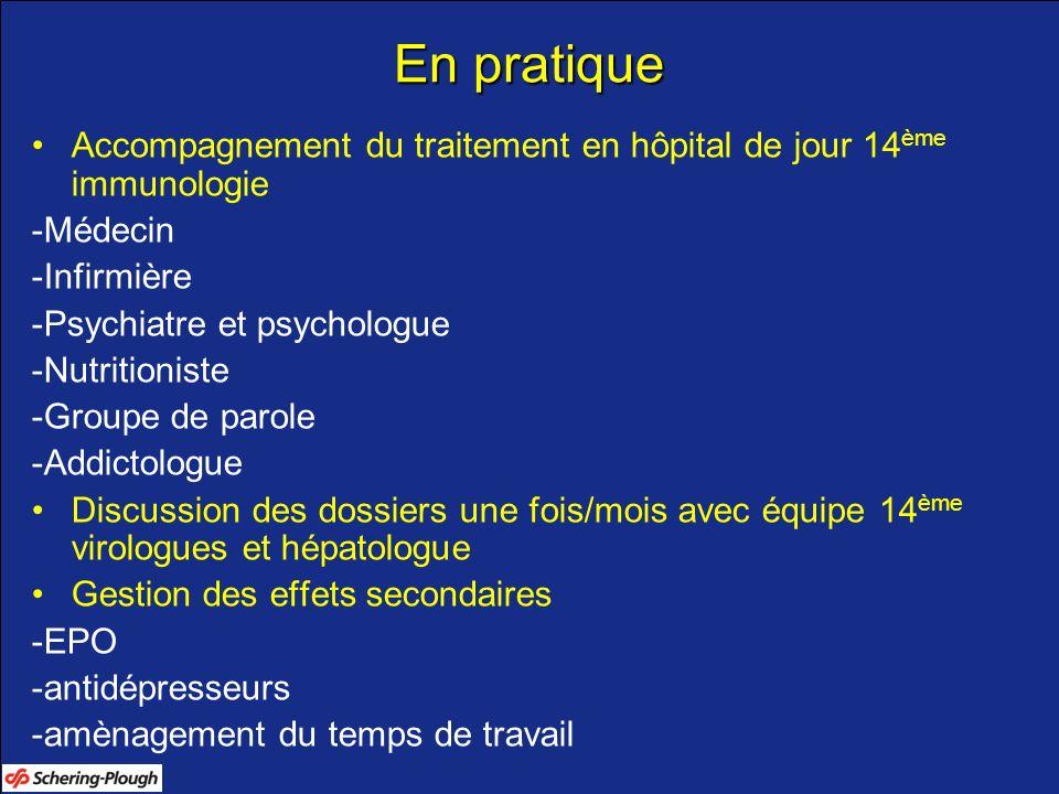En pratiqueAccompagnement du traitement en hôpital de jour 14ème immunologie. -Médecin. -Infirmière.