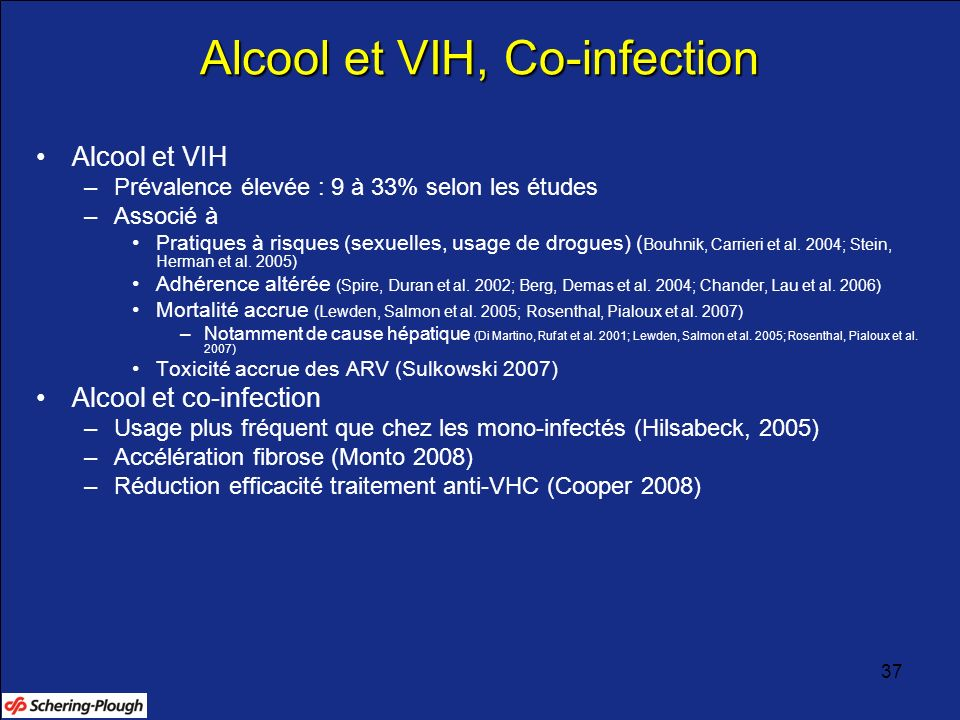 Alcool et VIH, Co-infection