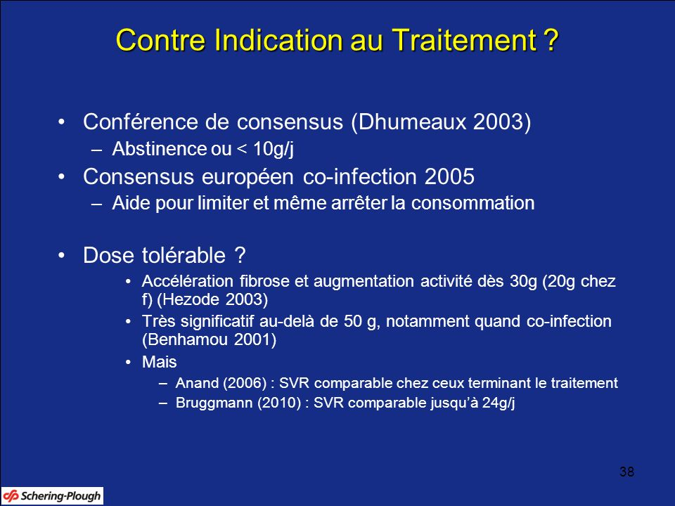 Contre Indication au Traitement