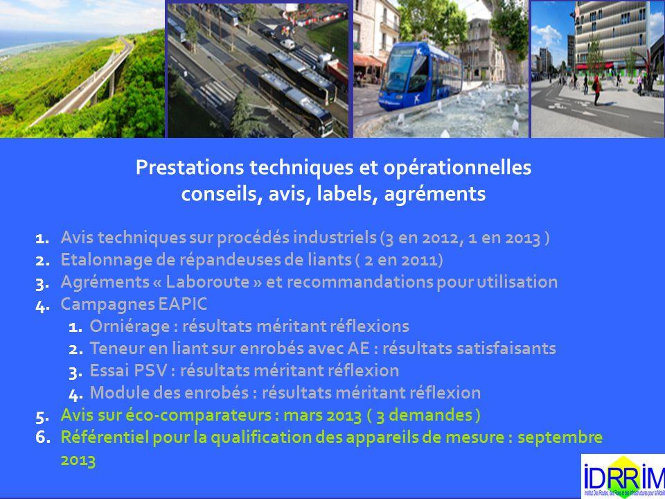 Prestations techniques et opérationnelles