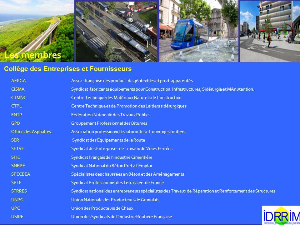 Les membres Collège des Entreprises et Fournisseurs AFPGA