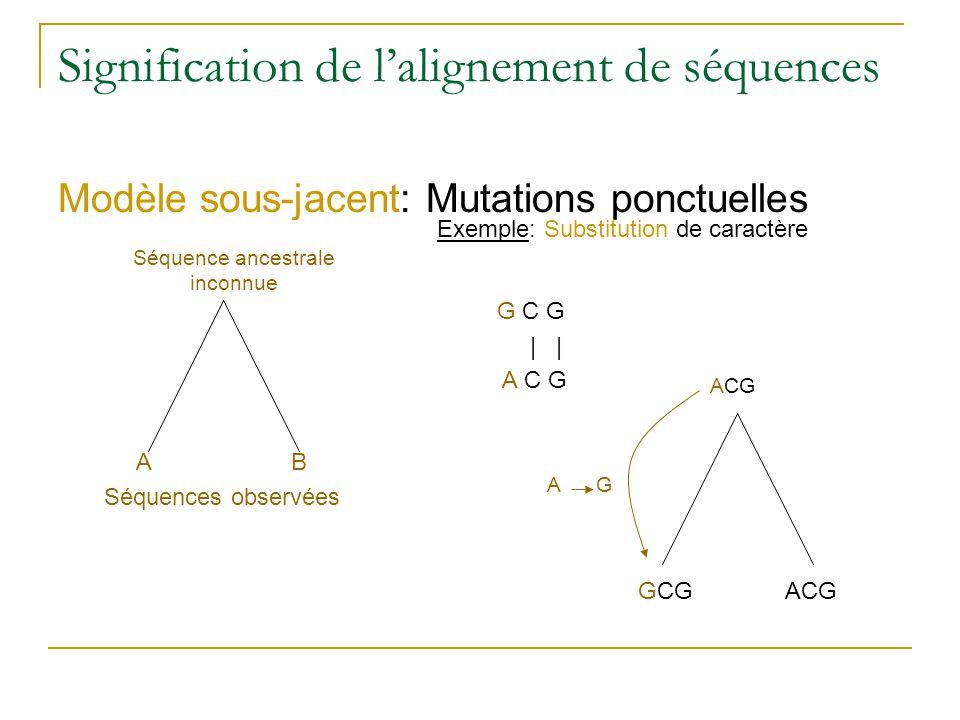 Signification de l'alignement de séquences