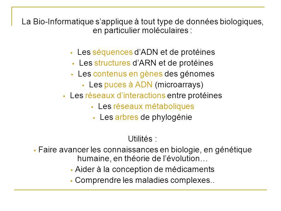 Les séquences d'ADN et de protéines