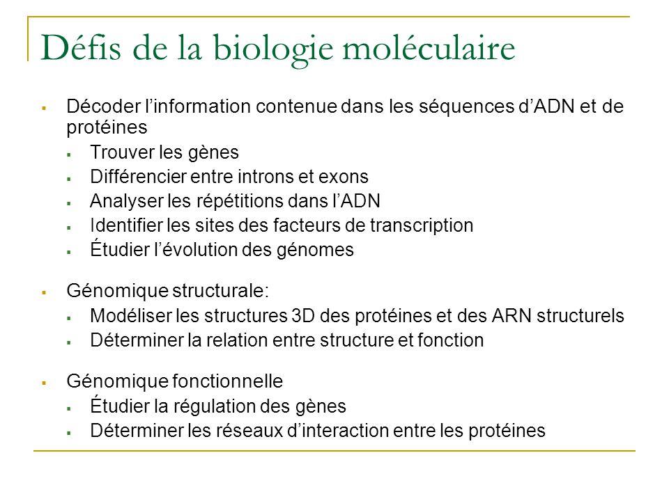 Défis de la biologie moléculaire