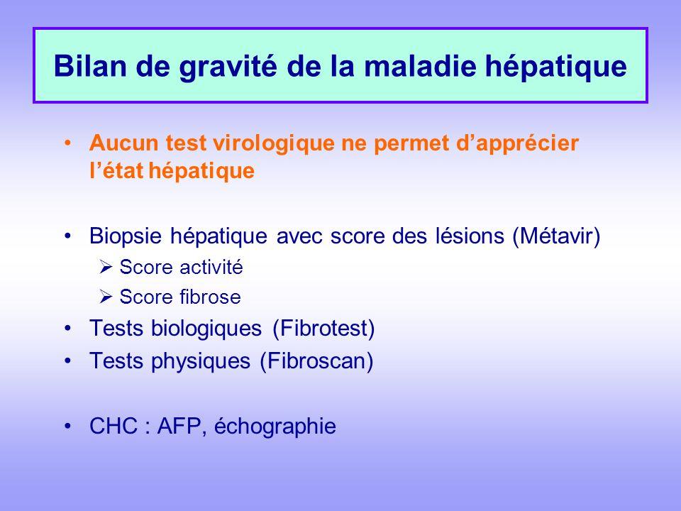 Bilan de gravité de la maladie hépatique