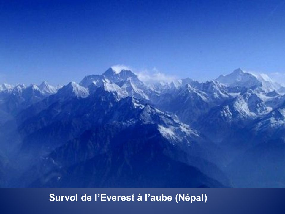 Survol de l'Everest à l'aube (Népal)