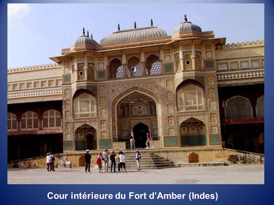 Cour intérieure du Fort d'Amber (Indes)