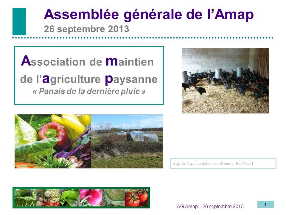 Assemblée générale de l'Amap 26 septembre 2013
