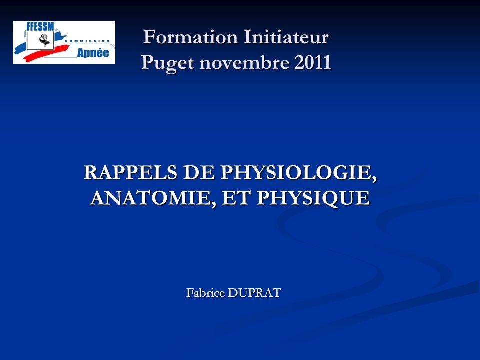 Formation Initiateur Puget novembre 2011