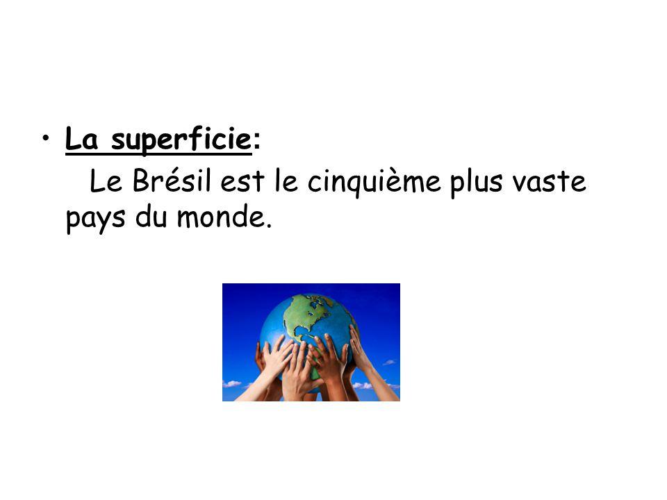 La superficie: Le Brésil est le cinquième plus vaste pays du monde.
