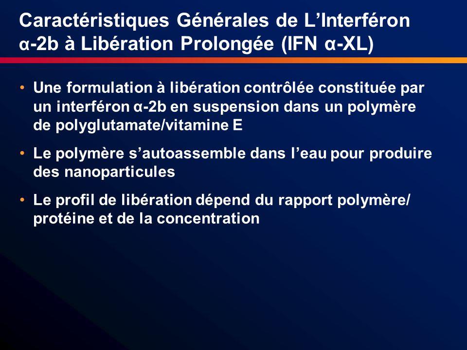 Caractéristiques Générales de L'Interféron α-2b à Libération Prolongée (IFN α-XL)
