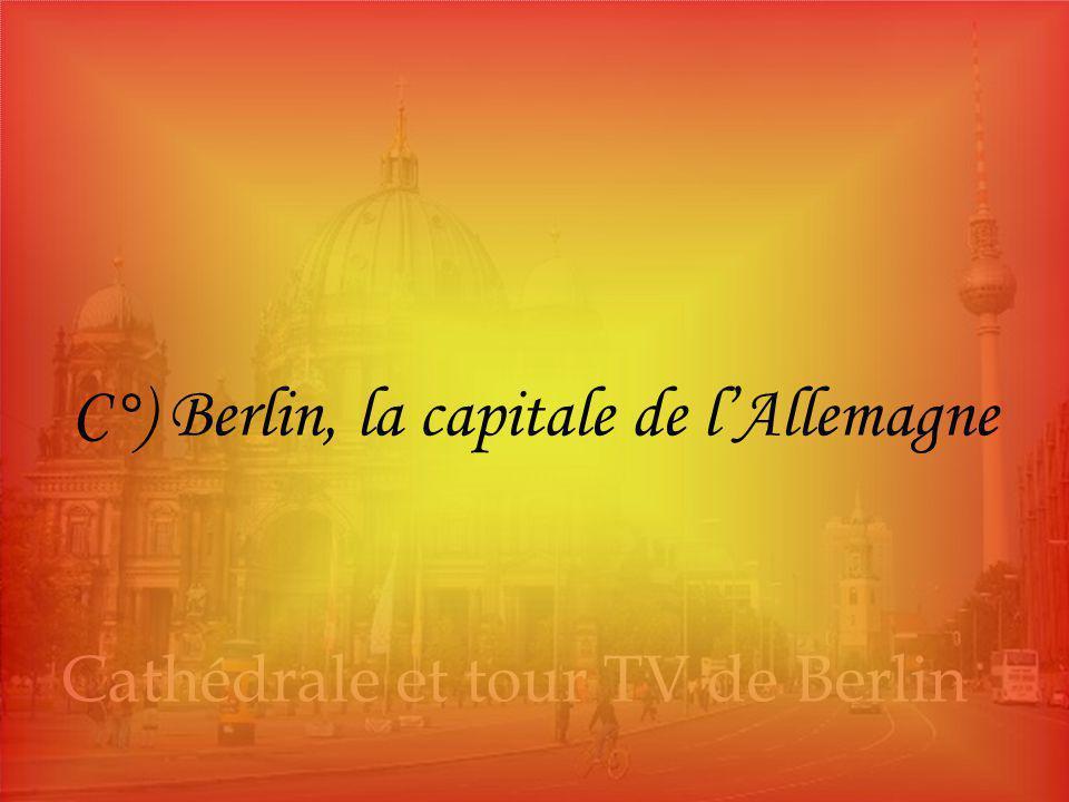 Vue aérienne de Berlin C°) Berlin, la capitale de l'Allemagne