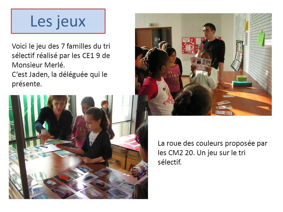 Les jeux Voici le jeu des 7 familles du tri sélectif réalisé par les CE1 9 de Monsieur Merlé. C'est Jaden, la déléguée qui le présente.