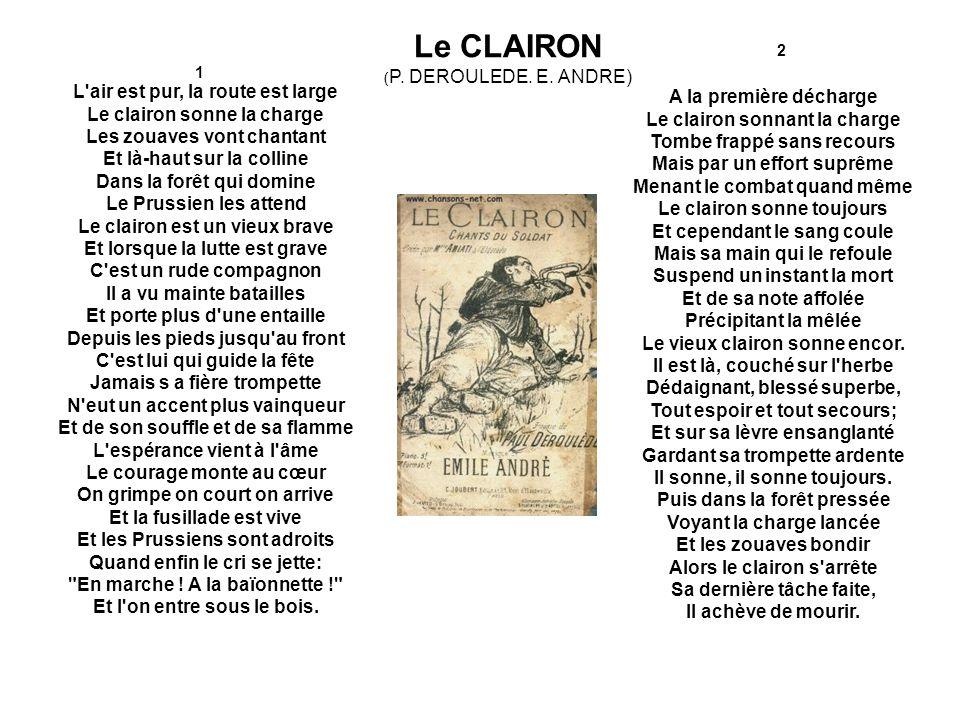 Le CLAIRON (P. DEROULEDE. E. ANDRE) 2. 1.