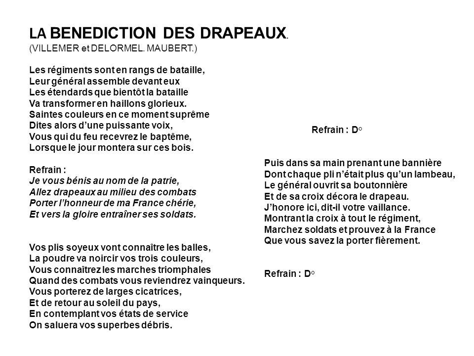 LA BENEDICTION DES DRAPEAUX.