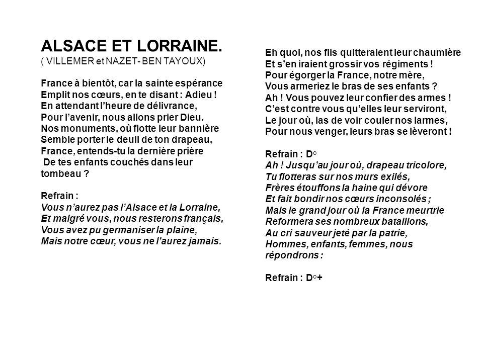 ALSACE ET LORRAINE. ( VILLEMER et NAZET- BEN TAYOUX)