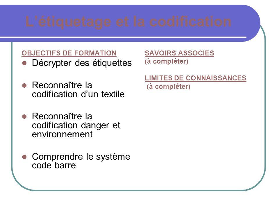 L'étiquetage et la codification