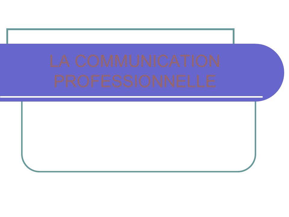 LA COMMUNICATION PROFESSIONNELLE