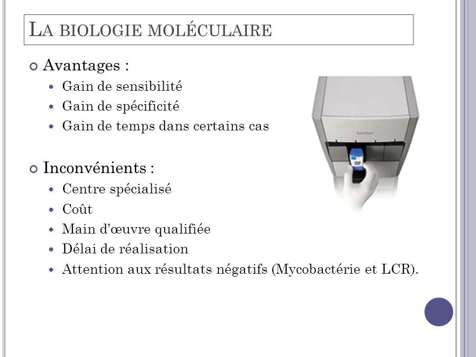 La biologie moléculaire