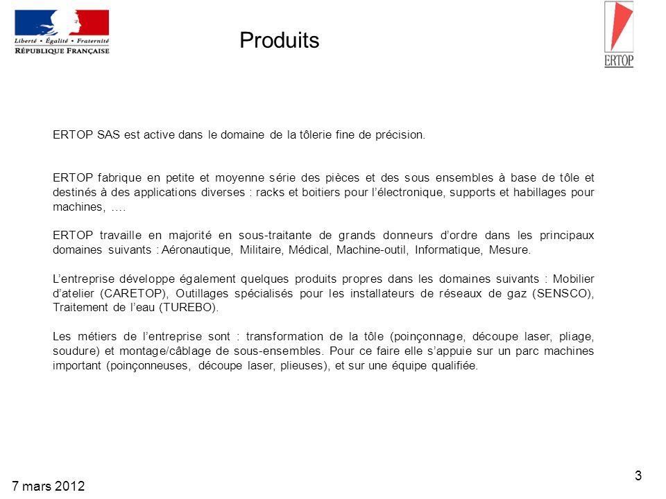 Produits ERTOP SAS est active dans le domaine de la tôlerie fine de précision.