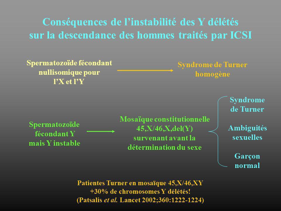 Conséquences de l'instabilité des Y délétés