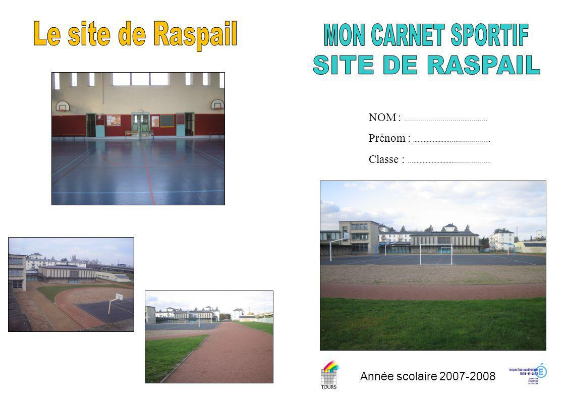 Le site de Raspail MON CARNET SPORTIF SITE DE RASPAIL