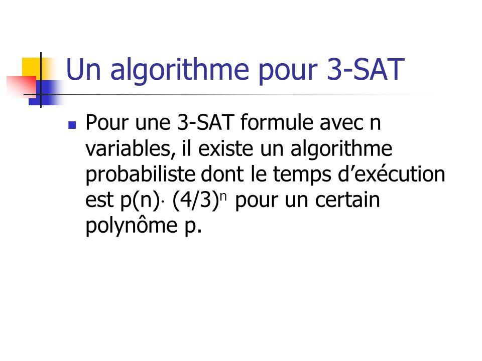 Un algorithme pour 3-SAT