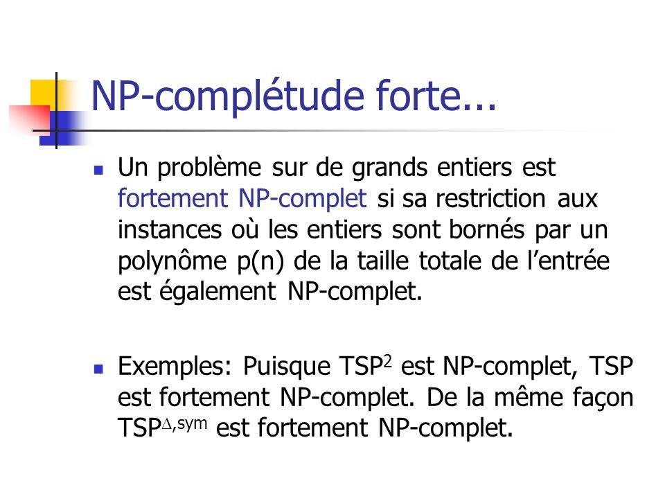 NP-complétude forte...