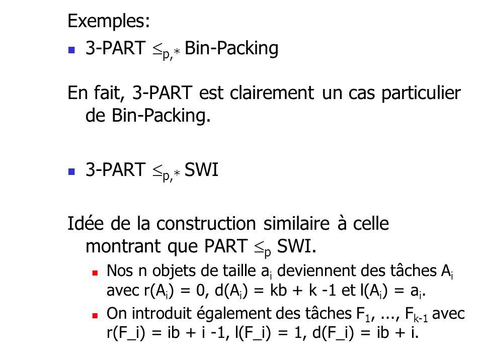 En fait, 3-PART est clairement un cas particulier de Bin-Packing.