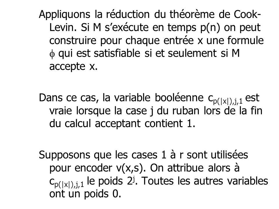 Appliquons la réduction du théorème de Cook-Levin