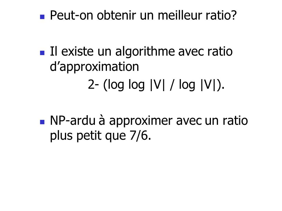 Peut-on obtenir un meilleur ratio