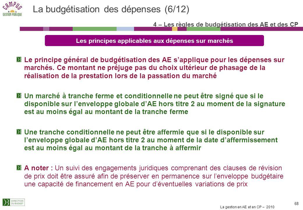 La budgétisation des dépenses (6/12)
