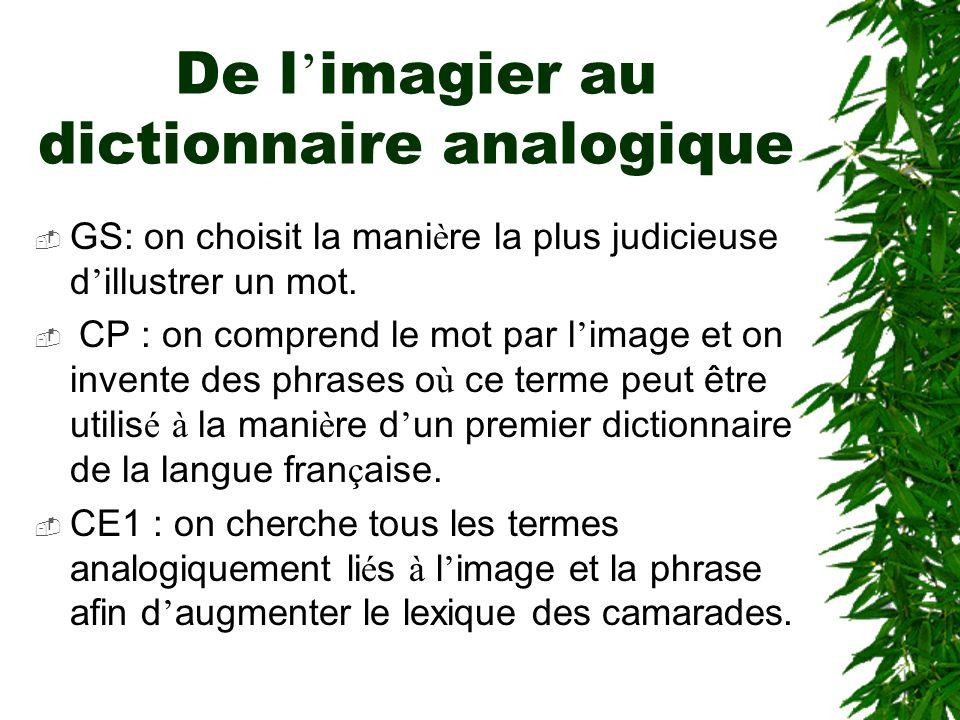 De l'imagier au dictionnaire analogique