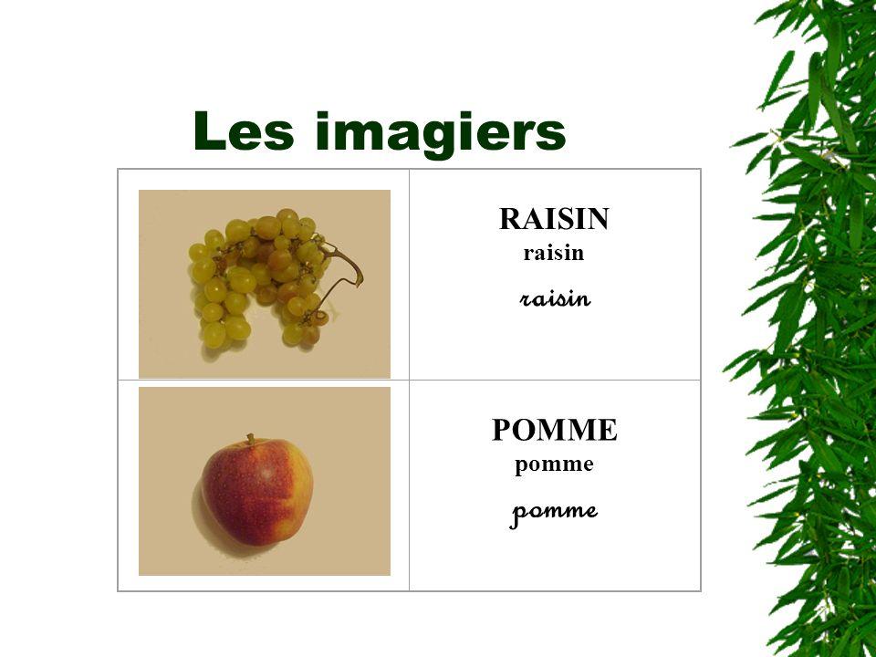 Les imagiers RAISIN raisin POMME pomme