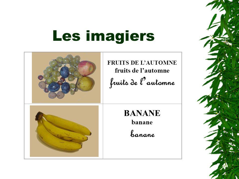 Les imagiers FRUITS DE L'AUTOMNE fruits de l'automne BANANE banane