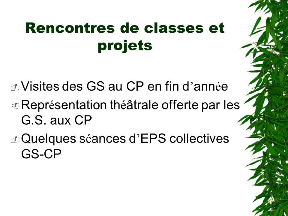 Rencontres de classes et projets