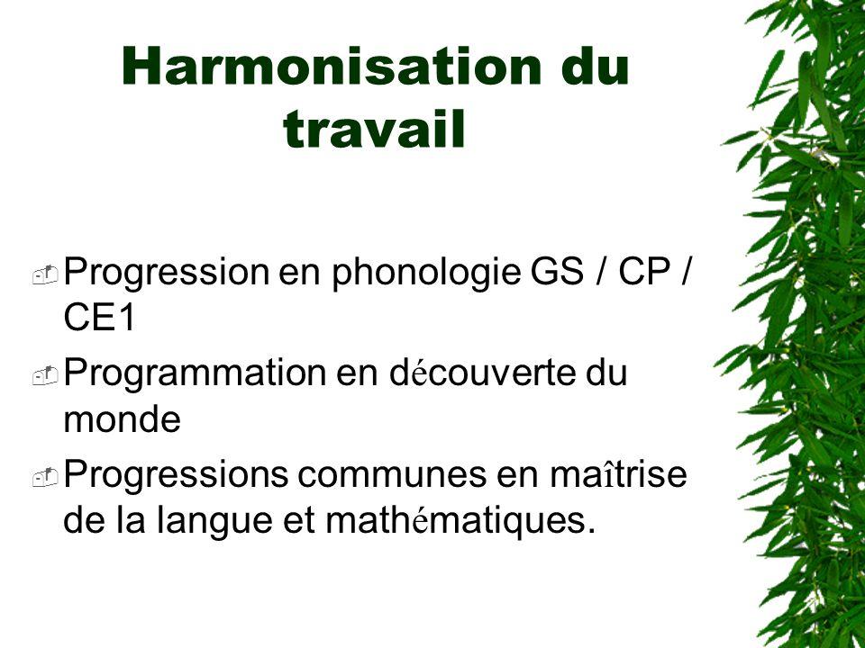 Harmonisation du travail
