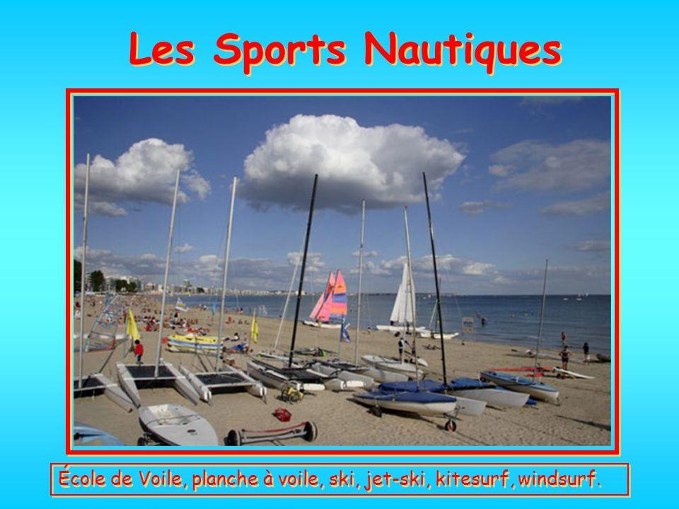 Les Sports Nautiques École de Voile, planche à voile, ski, jet-ski, kitesurf, windsurf.