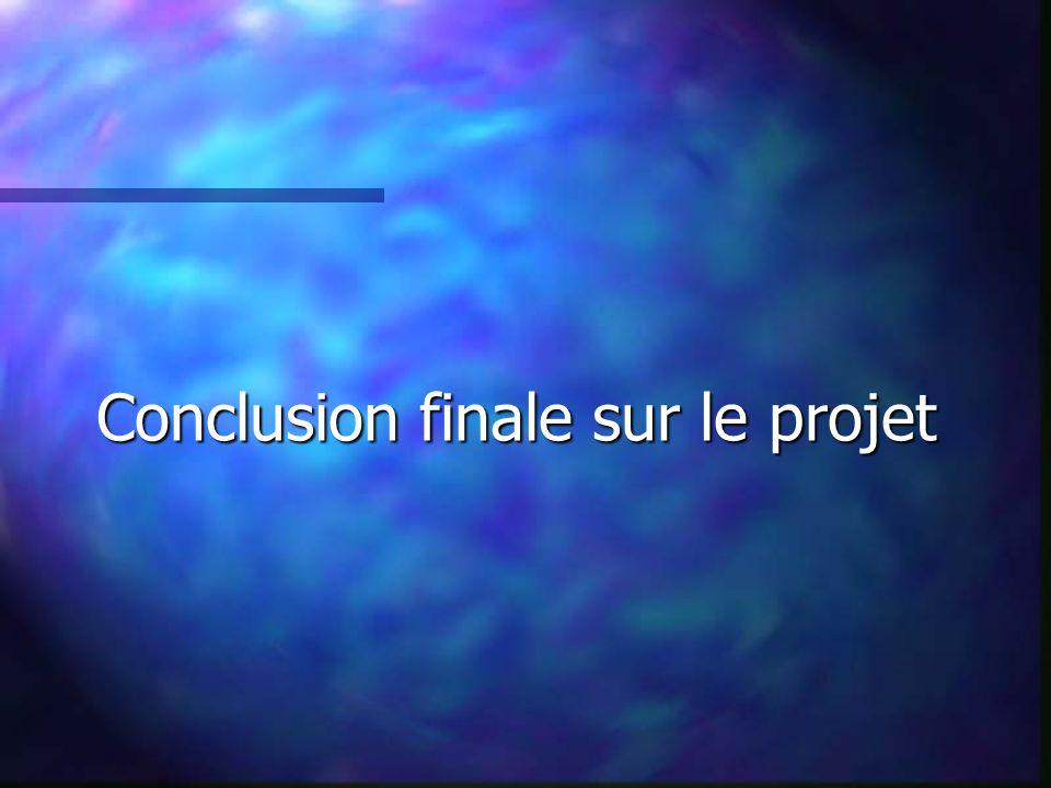 Conclusion finale sur le projet