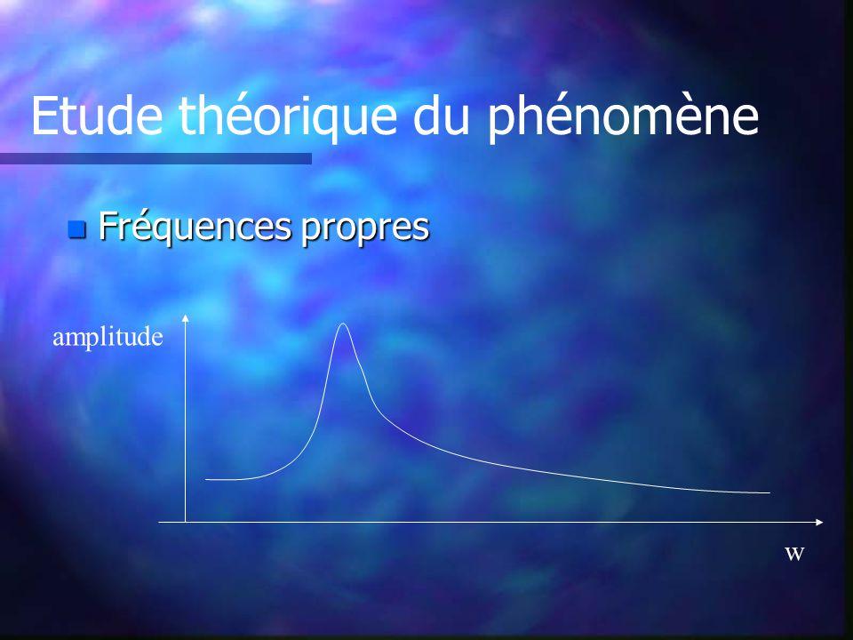 Etude théorique du phénomène