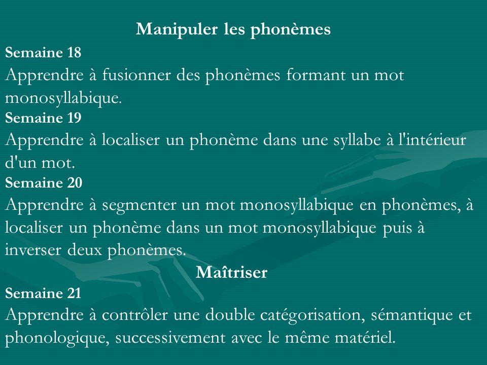 Manipuler les phonèmes